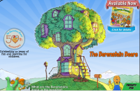 Visit the Berenstain Bears' Country,- check out the Bears' treehouse, watch some videos, visit the library, and play their games